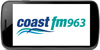 Samsung smart Phone with coast FM logo 100 x 50