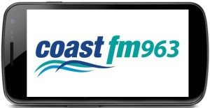 Samsung smart Phone with coast FM logo large-1